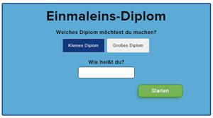 Einmaleins diplom
