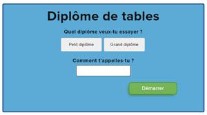 Diplôme de tables