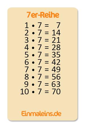 7er-Einmaleins üben