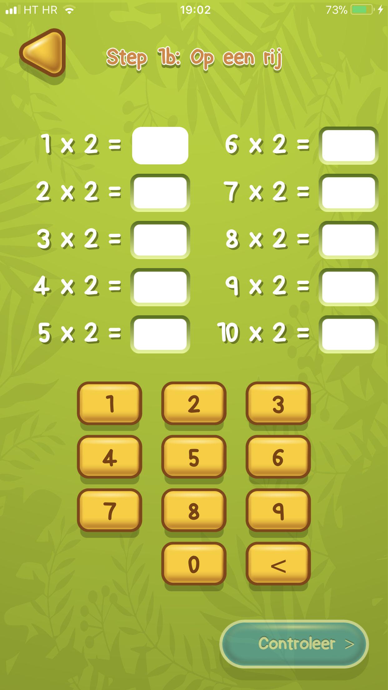 tafels oefenen app voorbeeld 3