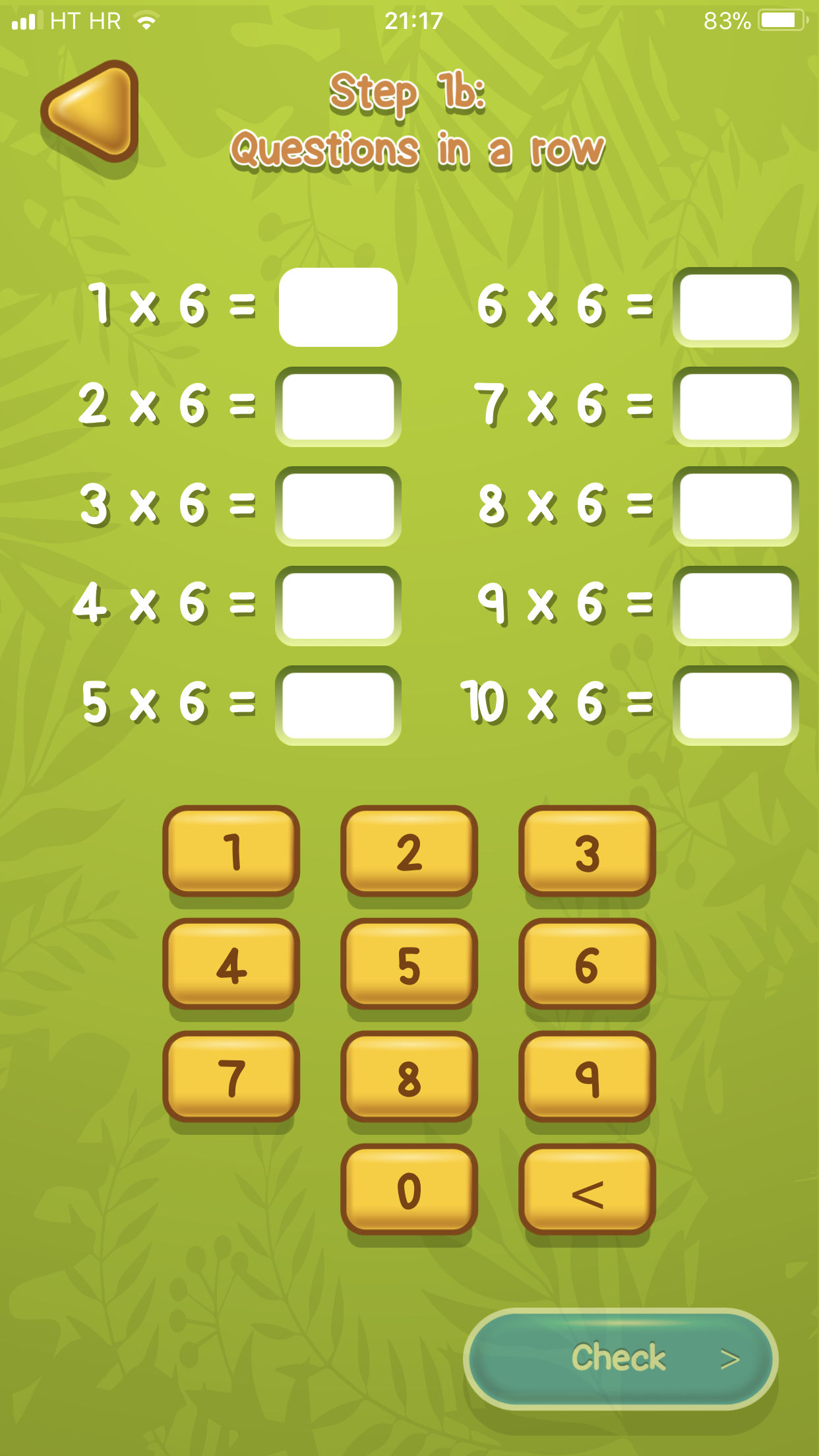 Times tables App Example 3