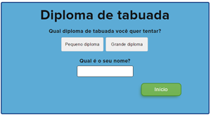 Diploma de tabuada